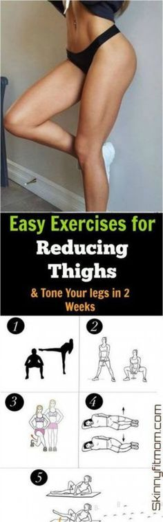 Exercise 10 Best Exercises to Lose Upper Thigh Fat in Less Than 7 Days - Do you want to lose upper thigh fat? This post will take you through the best exercises to lose upper thigh fat quickly in just one week. Fitness Workouts, Fitness Motivation, Easy Workouts, Cardio Gym, Body Fitness, Fitness Diet, Health Fitness, Fitness Plan, Exercise To Reduce Thighs