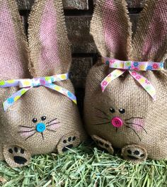 Handmade Burlap Bunny / Easter Bunny / Easter decor / Spring