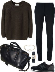 Style - Minimal + Classic: Untitled by juriiii featuring new balance shoes--- travel outfit Outfits Casual, Mode Outfits, Fashion Outfits, Womens Fashion, Travel Outfits, Habit Vintage, Mode Vintage, Mode Chic, Mode Style