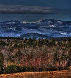 Taken in Lovell,Maine~Mount Washington Mount Washington, New England, Maine, Cool Art, United States, America, Mountains, Country, Places