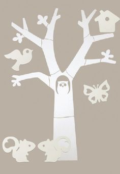 houten boom wand karwei - Google zoeken
