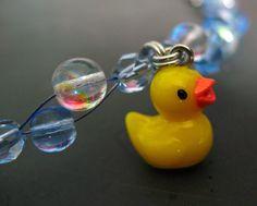 bracelet  rubber ducky rubadubdub bubbles by kriswinningham, $16.35