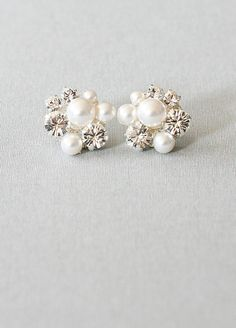 Swarovski Crystals and Pearls Earrings