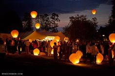 Outdoor party with chinese lanterns