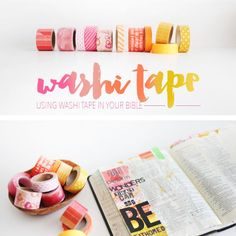 Using Washi Tape to illustrated your faith in the margins of your journaling bible with Shanna Noel