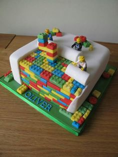 easy lego cake tutorial - Google Search