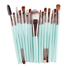 Sankuwen 15PCs Wool Makeup Brush Set Tools Toiletry Kit *** This is an Amazon Associate's Pin. Want to know more, click on this Amazon Affiliate link.