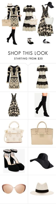 """""""Where are you going?"""" by tiana-lll ❤ liked on Polyvore featuring For Love & Lemons, RED Valentino, Jovani, ZAC Zac Posen, Furla, Jimmy Choo, Linda Farrow and rag & bone"""
