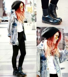 Leggings and Jeans Jacket