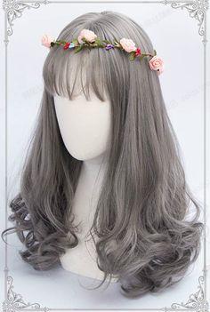 50cm Daily Harajuku Gray Lolita Curly Wig