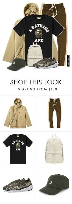 """""""io"""" by ivorionda ❤ liked on Polyvore featuring Yeezy by Kanye West, A BATHING APE, Rick Owens, NIKE, men's fashion and menswear"""