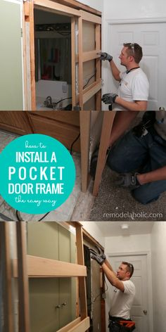 The Easy Way to Install a Pocket Door Frame in an Existing Wall – Home Renovation