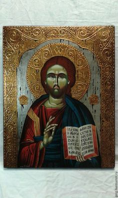 Very rare icon blessed from Monastery of Mount Athos Buddha, Blessed, Statue, Painting, Art, Craft Art, Paintings, Kunst, Gcse Art