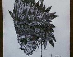 INDIAN SKULL - Drawing from 2017.