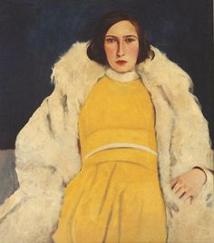 Willy Jaeckel (Ger. 1888-1944),  Woman in yellow (1928) Dame in Gelb