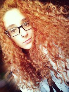 #redhead #curlyhair