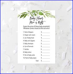 Greenery Price Is Right Game Printable Green Leaves Price Is Right Shower Game Green Shower Activity Guessing Game Botanical Baby Games 263 by MossAndTwigPrints on Etsy Baby Shower Favors Girl, Boho Baby Shower, Girl Shower, Baby Shower Games, Baby Lotion, Baby Shampoo, Baby Nail Clippers, Baby Dresser, Chest Dresser