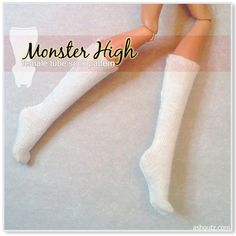 Tube sock pattern for Monster High dolls; just here for others who may need it because I made my own
