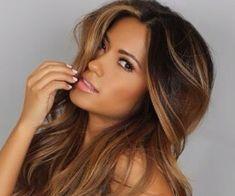 Brown hair partial highlights