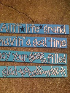 Havin a Good Time hand painted sign Widespread by rhmnola74, $18.00