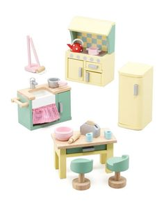 """Daisylane""+Kitchen+Dollhouse+Furniture+by+Le+Toy+Van+at+Bergdorf+Goodman."