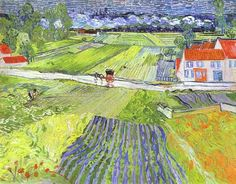 """A Road in Auvers after the Rain""  Vincent Van Gogh"