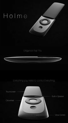 Holme - The Super Remote by Chengtao Yi - A culmination of all the pros of a remote control and a Smartphone, the…