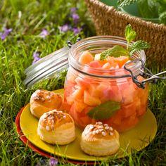 Fraîcheur de melon et de pastèque