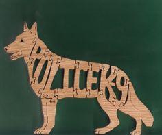 Police K-9 Wood Puzzle ( German Shepherd) Cut On Scroll Saw