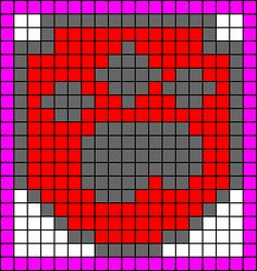 Alpha Friendship Bracelet Pattern added by cendrillon. Paw Patrol Badge, Ryder Paw Patrol, Afghan Crochet Patterns, Knitting Patterns, Escudo Paw Patrol, Pixel Art, Cross Stitch Letters, Alpha Patterns, Crochet Cross