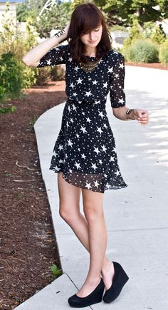 Stars Chiffon Dress.  Thanks Carly for finding this!!!! I think it's sooo cute!!! :)