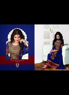 Flamboyant Blue Salwar Kameez #bride #stylish #bollywood #beauty #net #georgette #embroidery  #wedding #Anarkali #Muslim #Indian #Fashion #Salwar #Kameez #party #Dresses  #women #Latest #Outfits #Bridalwear #Desiwedding #designer  #gorgeous #beautiful #shaadi #suit