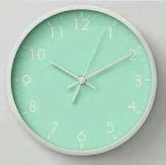 Time for Mint Green - Clock Mint Blue, Mint Color, Green Colors, Colours, Mint Green Aesthetic, Aesthetic Colors, Wallpapers Verdes, Verde Aqua, Colour Board