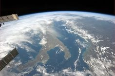 Italy: heel and toe, as seen from space by astronaut Commander Chris Hadfield.
