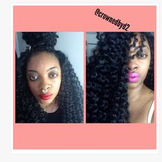 Crochet Braids By Blessed : Crochet braid, no leave out. #kinkytwist #nubian #protectivestyle # ...