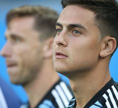 Paulo Dybala during the 2018 FIFA World Cup Russia group D match between Nigeria and Argentina at Saint Petersburg Stadium on June 2018 in Saint Petersburg, Russia. (Photo by Raddad Jebarah/NurPhoto via Getty Images) Cr7 Junior, Boyfriend Goals, Fifa World Cup, Messi, Ronaldo, Bald Eagle, Yuri, Crushes, Soccer