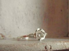 Raw Rough Diamond - Solitaire- promise-one of a kind engagement ring. $155.00, via Etsy.