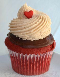 Serendipities Cupcakes - red velvet cake, chocolate genache and cinnamon cream cheese