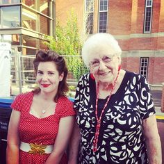 #yegfringe #yegvintage Never Let the Crew See You Cry made me cry. Honoured to meet the inspiration behind the play, Ethel Johnson Wood. Ethel was a southern Alberta flight line mechanic during WWII. More stories like hers need to be told!