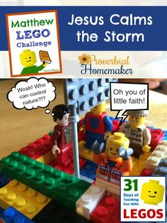 Jesus Calms the Storm (Day 9 Matthew Bible Lego Challenge) - http://www.proverbialhomemaker.com/day-9-of-the-matthew-bible-lego-challenge-jesus-calms-the-storm.html
