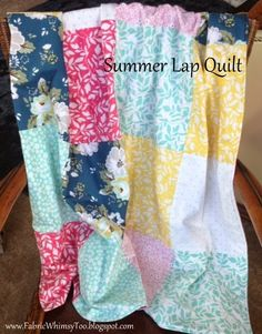 Great patchwork quilt tutorial - good for first time quilters!