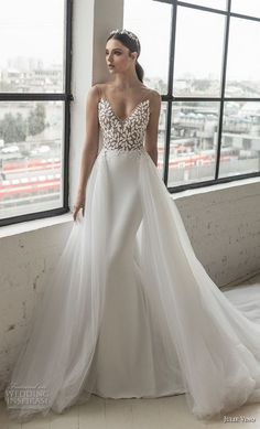 julie vino 2019 romanzo bridal sleeveless v neck heavily embellished bodice roma. , julie vino 2019 romanzo bridal sleeveless v neck heavily embellished bodice roma. 2016 Wedding Dresses, Bridal Dresses, Wedding Gowns, Bridesmaid Dresses, Dresses Dresses, Fit And Flare Wedding Dress, Mermaid Dresses, Corsage, Bridal Collection