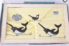 1950s Vintage NOS Unused in Original Box Towel by MyVintageHatShop