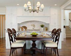 """Benjamin Moore Simply White OC-117"" Paint Colors | Divine Custom Homes Bria Hammel Interiors #diningroom"