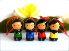 Star Trek Christmas Ornaments or Pendants by CreativeButterflyXOX, $48.00
