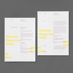 Bespoke CV / Resume for James Sampson a current PhD student, focusing on market research. To differentiate James from the norm, he needed a CV to make an impression and represent his unique skills, qualifications and personality.  View the full project at www.sarahmangion.com link in bio  #bespokeresume #australiandesign #graphicdesign #sarahmangion #marketing #phd #creativedirection #branding #typography #theloop #dribbble #bespokedesign #ciriculumvitae #resumedesign #TDKpeepshow