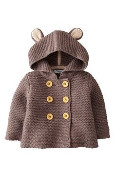 Mini Boden Knit Mouse Ears Jacket (Baby Boys) available at #Nordstrom