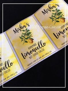 Limoncello Limoncello label Label by EngravingCave on Etsy Limoncello Recipe, Homemade Limoncello, Beeswax Lip Balm, All Names, Bottle Labels, Custom Labels, High Gloss, Wedding Favors, Vodka