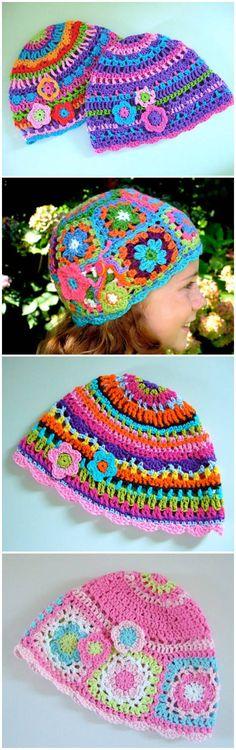 Colorful Hat Crochet Pattern