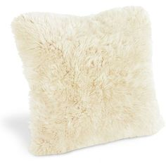 Sheepskin Pillows (360 CNY) found on Polyvore